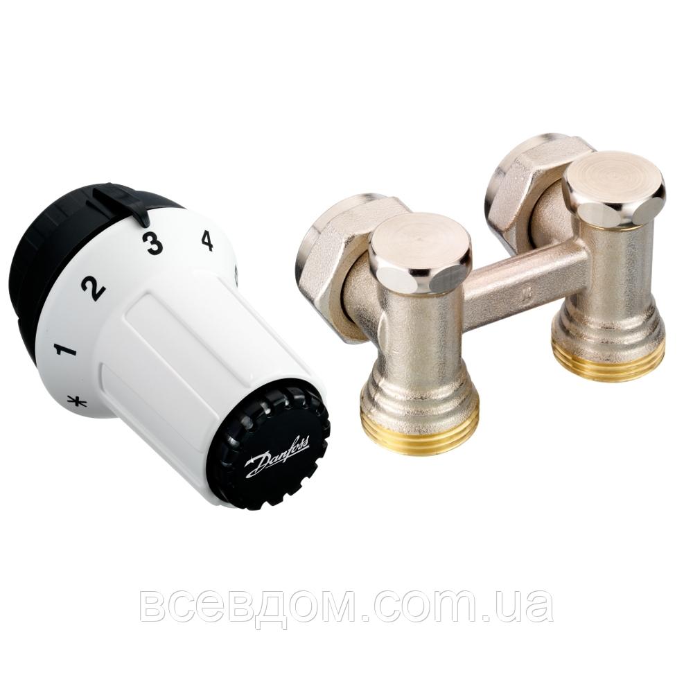 Комплект нижнего подключения термостатический (радиаторный) угловой Danfoss 013G5276 1/2x3/4