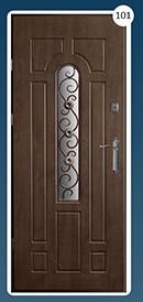 Входные двери с ковкой Економ 101