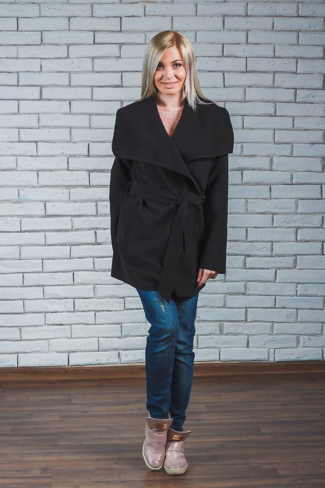 4c005dec390 Пальто женское короткое кашемировое черное  продажа