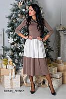 Двухцветное длинное платье (2 расцветки) s-032441