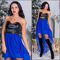 Вечернее платье с кожаным верхом (много расцветок) s-032443