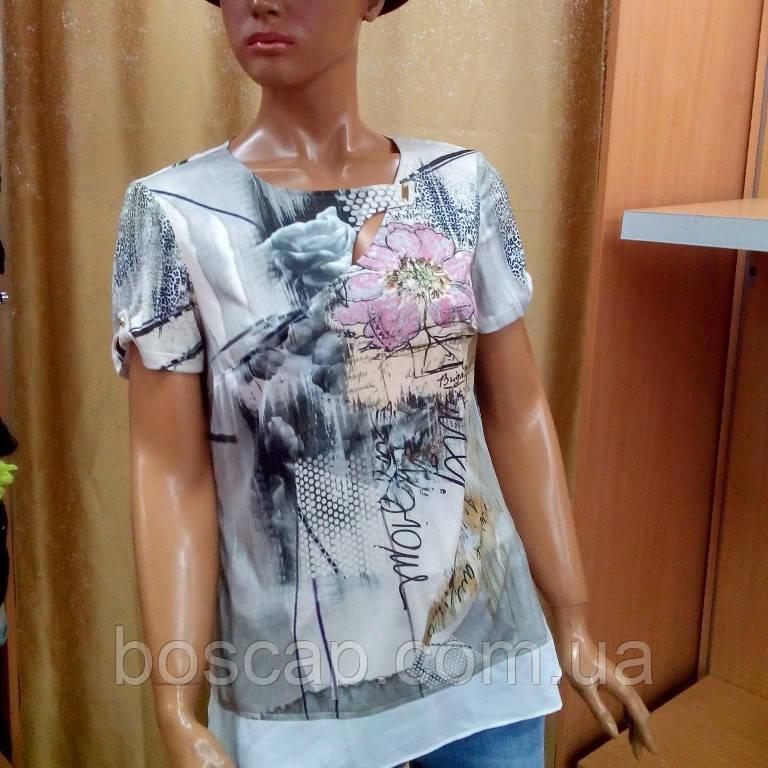 Блузка женская с коротким рукавом купить в