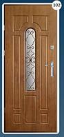 Входные двери с ковкой Економ 102