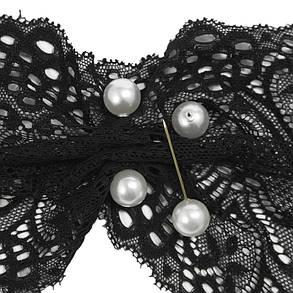Шпилька з перлинами з 2-х сторін, біла, фото 2