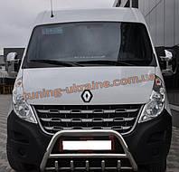 Защита переднего бампера кенгурятник из нержавейки на Opel Movano B 2010