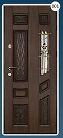 Входные двери с ковкой Економ 801