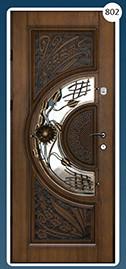 Входные двери с ковкой Економ 802