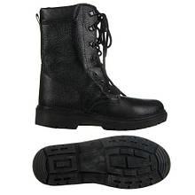 Ботинки (берцы) юфтевые СМ демисезон ПУ (литая) подошва черные