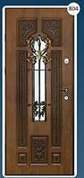 Входные двери с ковкой Економ 804