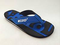 Мужские шлепанцы - вьетнамки -сланцы  KITO синие