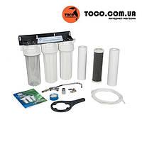 Фильтр для воды тройной трехступенчатый тройная фильтрация Aquafilter FP3-2