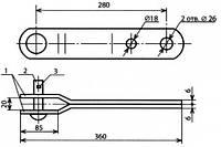 Вилка (деталь анкеровки контактного провода) - КС-123