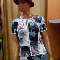 Женская летняя блузка с  коротким рукавом