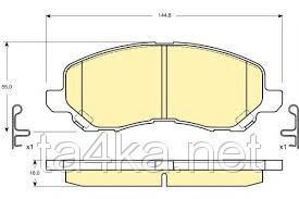 Тормозные колодки передние Mitsubishi Lancer X