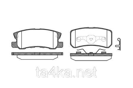 Тормозные колодки задние Mitsubishi Pajero Wagon 3 2000-2006, замена MN102628