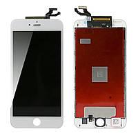 Дисплей (экран) для Apple iPhone 6S Plus + с сенсором (тачскрином) белый Копия высокого качества