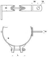 Хомут для крепления кронштейнов КС-131