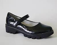 Модные лаковые туфли для девочки подростка, Солнце, 32-37