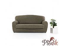 Чехол на диван натяжной 3-х местный Испания, Noemi Brown коричневый