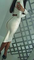 Женский кожаный костюм о-3410463