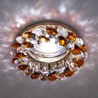 Встраиваемый потолочный светильник Feron CD4141 Mr16 под светодиодную лампу  led или галогенную диммируемую коричневый/золото
