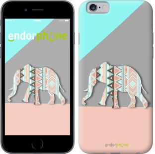 """Чехол на iPhone 6s Узорчатый слон """"2833c-90"""""""