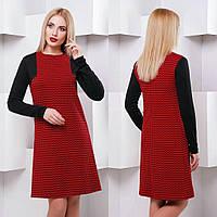 Прямое женское платье н-032543