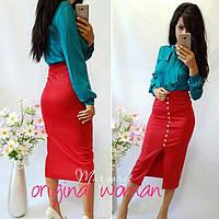 Женская юбка ниже колен в расцветках p-211173