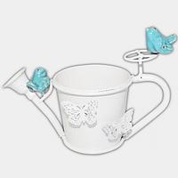 Декоративное кашпо-лейка Птички 20,5 см, белый ST 777-033