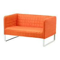 """IKEA """"КНОППАРП"""" диван двухместный, оранжевый"""