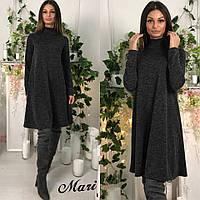 Свободное теплое платье в расцветках f-0332581