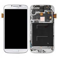 Дисплей для Samsung  i9500 Galaxy S4 (White Frost) с тачскрином