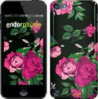 """Чехол на iPod Touch 5 Розы на черном фоне """"2239c-35"""""""