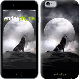 "Чехол на iPhone 6s Воющий волк ""934c-90"""