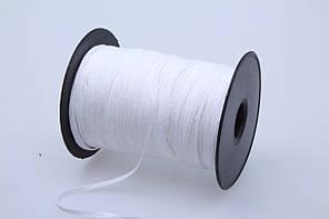 Тесьма киперная окантовочная хлопчатобумажная S 5мм белая (200м)