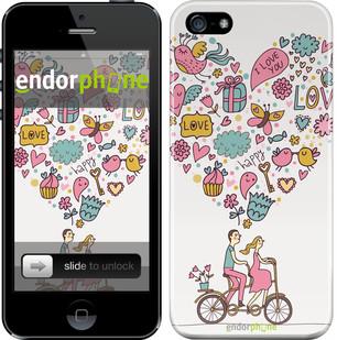"""Чехол на iPhone 5s Любовь v3 """"3568c-21"""""""