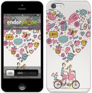 """Чехол на iPhone 5c Любовь v3 """"3568c-23"""""""