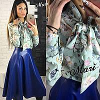 Модная женская кожаная юбка у-2111176