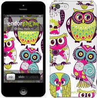 "Чехол на iPhone 5c Совы ""1805c-23"""