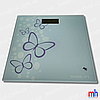 """Весы напольные электронные мод. 5848-2 (стекло, квадрат, рис. """"бабочка"""" до 180 кг.)"""