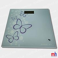 """Весы напольные электронные мод. 5848-2 (стекло, квадрат, рис. """"бабочка"""" до 180 кг.), фото 1"""