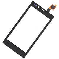 Сенсор (тачскрин) Sony ST26i Xperia J Black