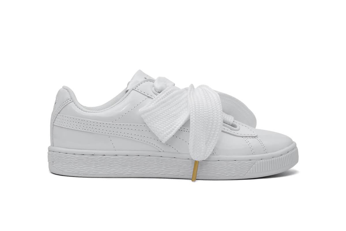 8e6044747f1a Кроссовки Puma Basket Heart Patent  White  - Интернет-магазин обуви в Киеве