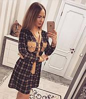 Джинсовое женское  платье к-33032593