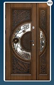 Двері вхідні полуторка з ковкою Економ 902