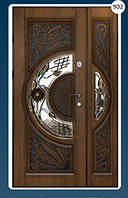 Двери входные полуторка с ковкой Економ 902
