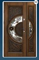 Двери входные полуторка с ковкой ВІП  серія