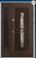 Двери входные полуторка с ковкой Економ 903