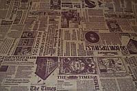 "Бумага для цветов и подарков  ""Газета The Times"" коричневая на крафте"""
