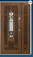 Двери входные полуторка с ковкой Економ 904